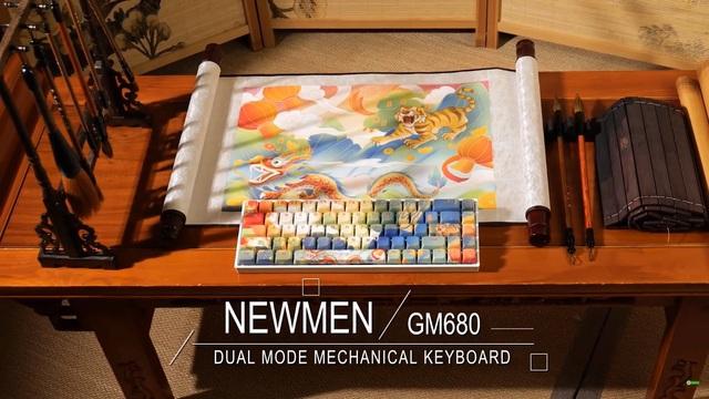 Bàn phím cơ không dây hai chế độ Newmen GM680 68 nút độc đáo, thời thượng - Ảnh 10.