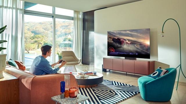 Game thủ khoe góc 'chiến' game trên TV cao cấp - Ảnh 1.