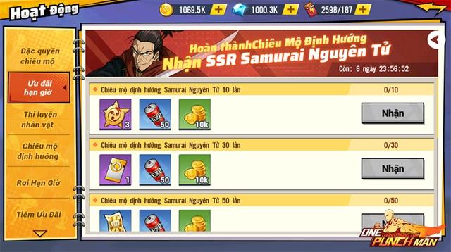 17/9 – Chuỗi sự kiện Samurai nguyên tử phá đảo thế giới One Punch Man: The Strongest - Ảnh 2.