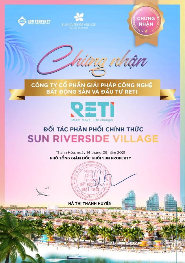RETI là đại lý phân phối chính thức dự án Sun Riverside Village - Ảnh 1.
