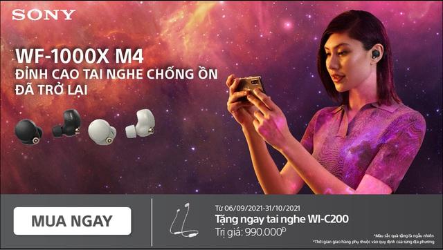 Đỉnh cao tai nghe chống ồn Sony WF-1000XM4 trở lại cùng chương trình khuyến mãi hấp dẫn - Ảnh 5.