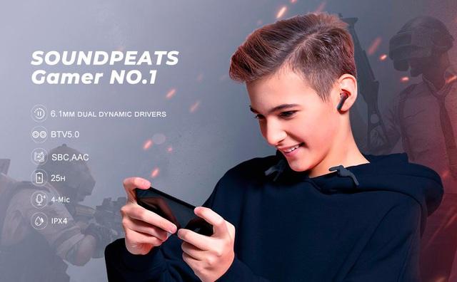 Tai nghe SoundPEATS Gamer No.1 Âm thanh 3D, Game Mode tốt nhất dành cho game thủ - Ảnh 1.