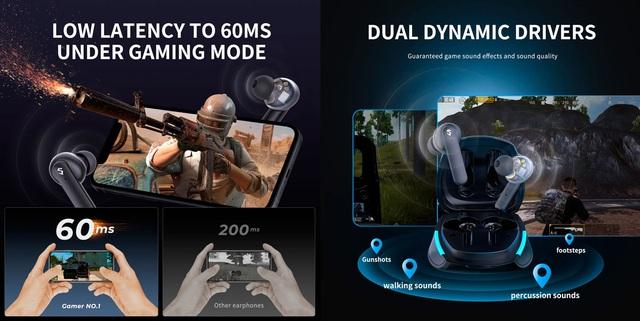 Tai nghe SoundPEATS Gamer No.1 Âm thanh 3D, Game Mode tốt nhất dành cho game thủ - Ảnh 3.