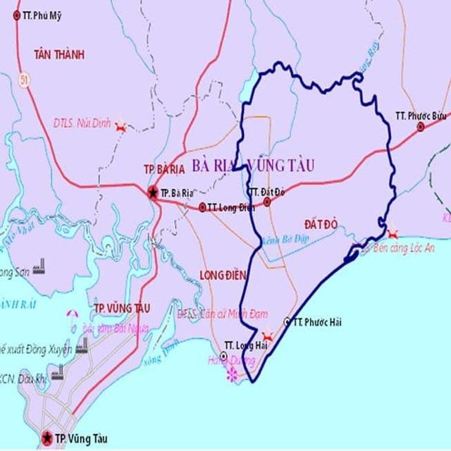 Vị trí huyện Đất Đỏ trong chiến lược phát triển của tỉnh