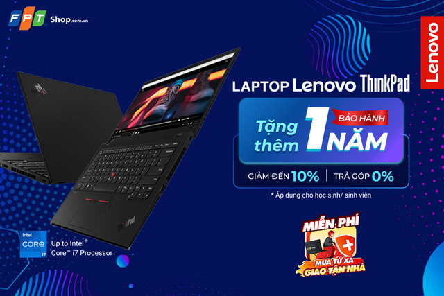 FPT Shop tặng thêm 1 năm bảo hành cho dòng laptop cao cấp Lenovo ThinkPad - Ảnh 2.