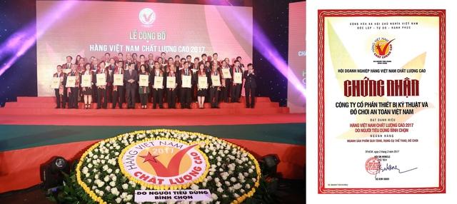 ANTONA tự hào nhận danh hiệu Hàng Việt Nam Chất Lượng Cao do NTD bình chọn năm 2017