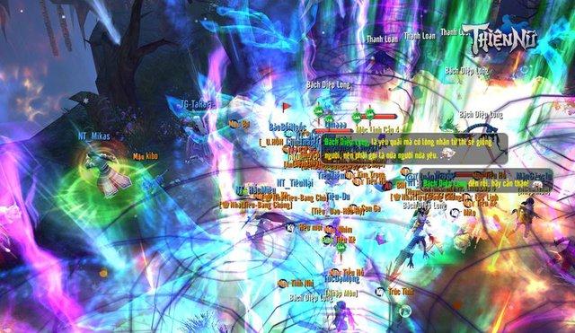 Hình ảnh đông đúc của 3 server đầu