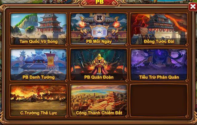 Các tính năng phụ bản có trong game