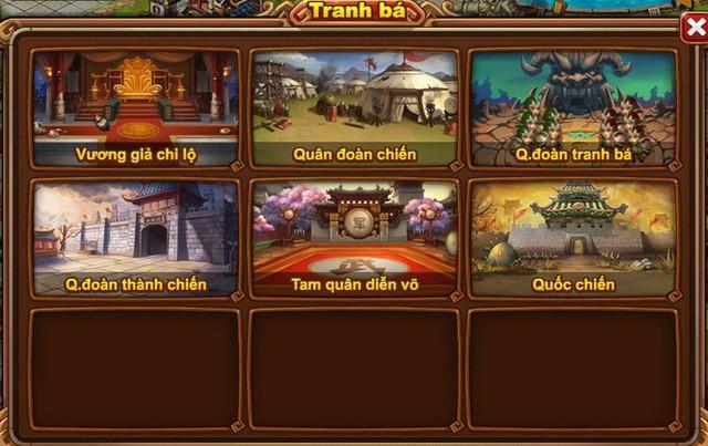 Vô số hoạt động tranh bá liên server trong game Tam Quốc Quần Hùng