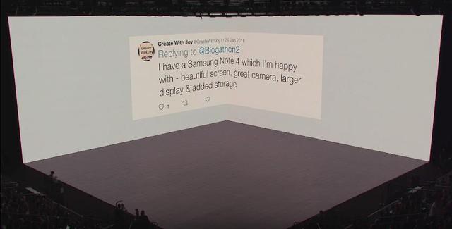Kỷ niệm của người hâm mộ toàn thế giới với dòng điện thoại Galaxy Note đã được tái hiện tại trên sân khấu Samsung Unpacked năm nay. Theo khảo sát, hơn 8 trên 10 người dùng cho biết họ vô cùng yêu mến chiếc điện thoại Galaxy Note của mình.