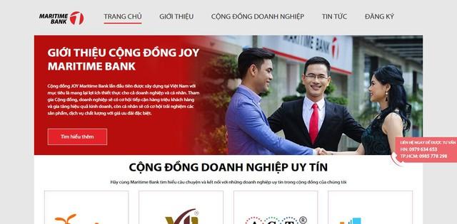 Doanh nghiệp có thể truy cập trang web http://congdongjoy.msb.com.vn/ để nghiên cứu và đăng ký tham dự Cộng đồng JOY Maritime Bank