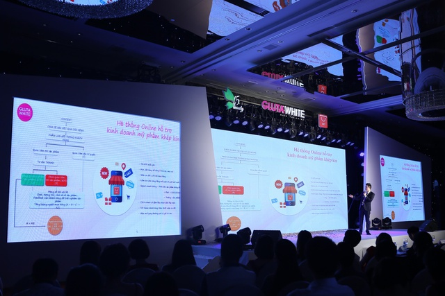 CEO F5 Group chia sẻ về hệ thống online hỗ trợ kinh doanh mỹ phẩm khép kín trong buổi mở phân phối hệ thống vào ngày 24/9 vừa qua.