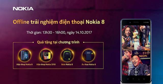Bên cạnh việc nghe chia sẻ chi tiết về các tính năng nổi bật của Nokia 8, các tín đồ công nghệ sẽ được trải nghiệm trên tay các sản phẩm của Nokia ra mắt trong thời gian qua như Nokia 3310, Nokia 3, Nokia 5, Nokia 6.