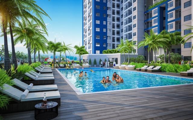 Bể bơi trên không Sky Pool tạo trải nghiệm thú vị tới công dân dự án
