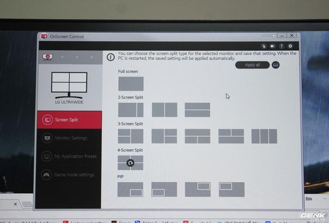 Khả năng chia màn hình thành nhiều cửa sổ nhỏ, tiện lợi khi làm việc và giải trí