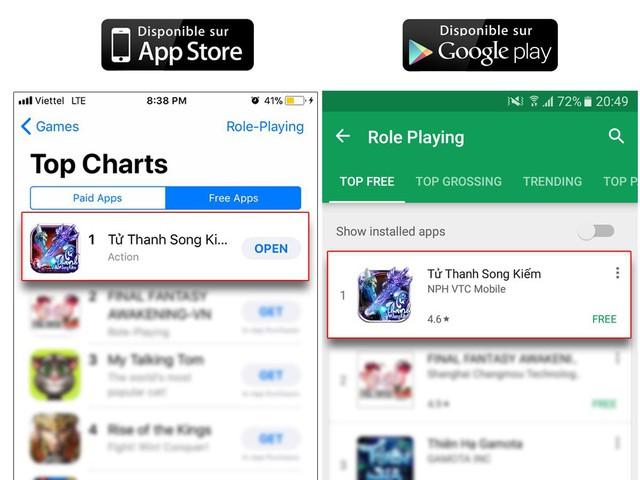 Tử Thanh Song Kiếm – đông vui như trẩy hội khi đạt top 1 bảng xếp hạng game nhập vai (Android & iOS)