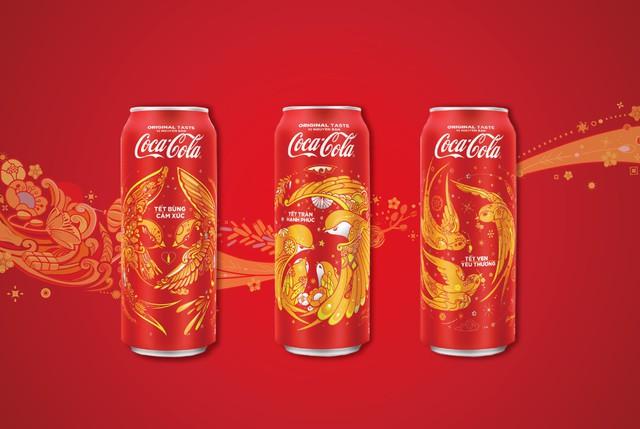 Hình tượng chim én được nhân hoá sinh động trong bộ sưu tập Coca-Cola Tết 2018