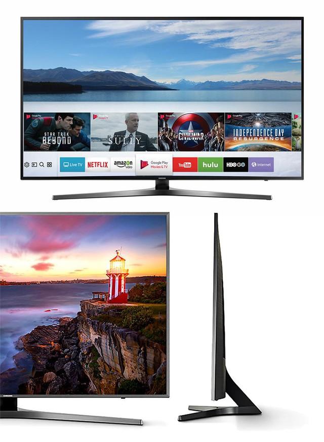 Trong phân khúc TV kích thước 43 inch, đây chính là chiếc TV Ultra HD 4K cao cấp nhất, với mức giá chỉ hơn 12 triệu đồng. Thiết kế mỏng, chân đế sang trọng cùng mặt lưng sáng bóng là những điều khiến chiếc TV này thu hút người mua ngay từ cái nhìn đầu tiên.