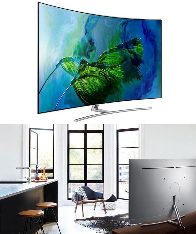Những chiếc TV màn hình cong luôn mang đến những trải nghiệm hoàn hảo về hình ảnh và âm thanh. Hình ảnh từ TV màn hình cong có chiều sâu, âm thanh sống động hơn nhờ vào không gian bố trí loa rộng hơn. Với màn hình cong quyến rũ đi cùng với kích thước lớn. Chiếc TV này sẽ biến phòng khách nhà bạn thành một rạp phim tại gia thực thụ.