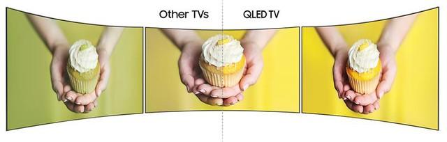 Ngoài ra TV màn hình cong còn cho người xem nhiều lợi ích thú vị khác. Khi bạn xem những TV thường, ánh sáng từ môi trường qua màn hình và làm chất lượng xem bị giảm, trong khi đó nếu bạn sử dụng TV màn hình cong thì ảnh sáng phản chiếu trên TV sẽ được giảm tối đa qua đó không gây ảnh hưởng nhiều đến chất lượng hình ảnh.