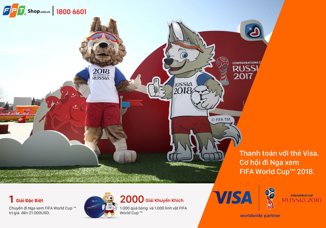 Thanh toán bằng thẻ visa tại FPT Shop, nhận ngay cặp vé đi Nga xem World Cup 2018 - Ảnh 3.