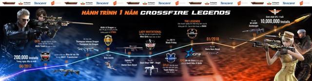 Biển người chúc mừng CrossFire Legends 1 tuổi với chặng đường huyền thoại - ảnh 1