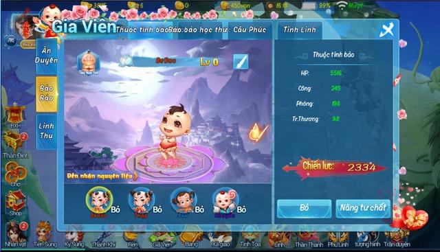 Tính năng sinh con đặc sắc trong Trong Phi Tiên Mobile