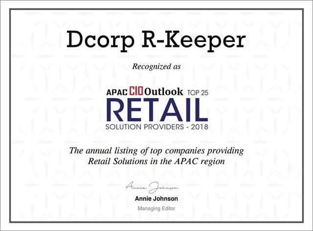 Dcorp R-Keeper lọt top nhà cung cấp biện pháp POS danh tiếng Châu Á Thái Bình Dương - Ảnh 2.
