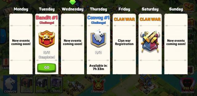 Hai sự kiện hàng tuần mới của Caravan War