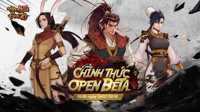 Hiệp Khách Giang Hồ Mobile tặng giftcode và khai mở chuỗi sự kiện mừng Open Beta