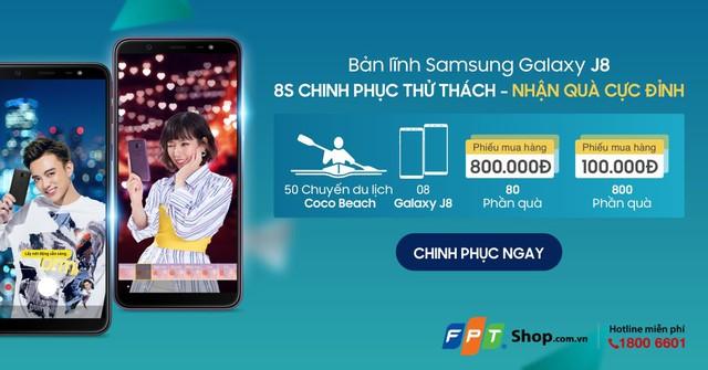 """FPT Shop tặng 8 máy Samsung J8 cho khách tham gia """"Thử thách 8s"""" - Ảnh 1."""