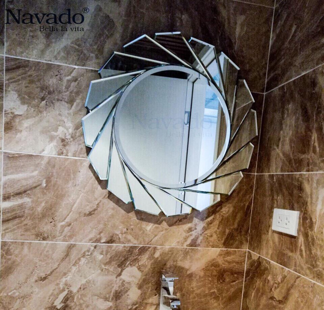 Các mẫu gương phòng tắm nghệ thuật độc đáo nhất hiện nay - Ảnh 3.