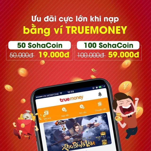 Thẻ game giá rẻ, giảm giá đặc biệt 50% SohaCoin tại TrueMoney - Ảnh 1.