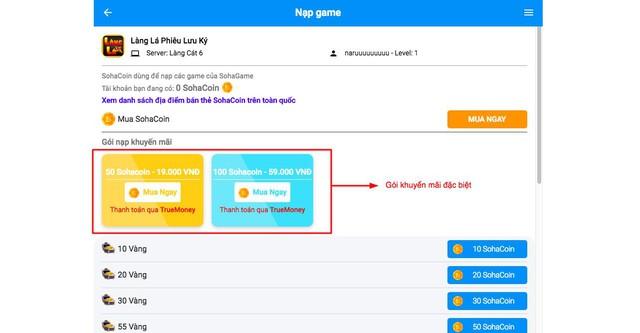 Thẻ game giá rẻ, giảm giá đặc biệt 50% SohaCoin tại TrueMoney - Ảnh 3.