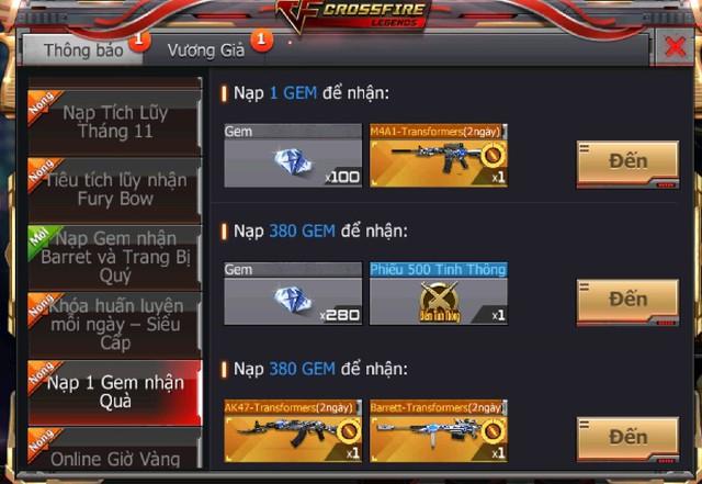 CFL: Sở hữu vô vàn GEM và các vũ khí VIP với giá cực ưu đãi chỉ duy nhất vào ngày Black Friday 23/11 - Ảnh 3.