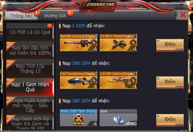 hữu ngay bộ đôi vũ khí cực VIP tại CrossFire Legends free Img20181211193001996
