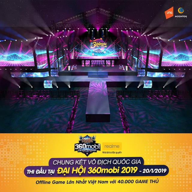Chung kết Quốc Gia giải Mobile Legends Bang bang VNG diễn ra tại Đại Hội 360mobi với 40.000 game thủ