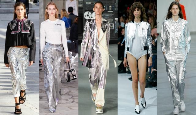 """Tông màu ánh kim """"phủ sóng"""" khắp sàn diễn thời trang và các sản phẩm làm đẹp - Ảnh 1."""