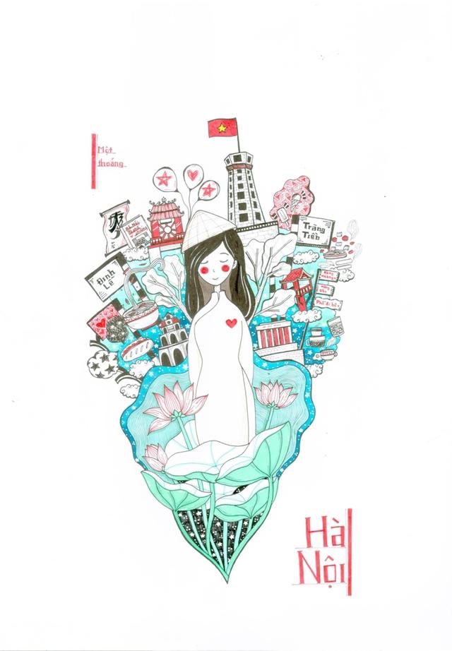 Lại có thêm bộ ảnh vẽ Việt Nam đẹp đến mê mệt - Ảnh 2.