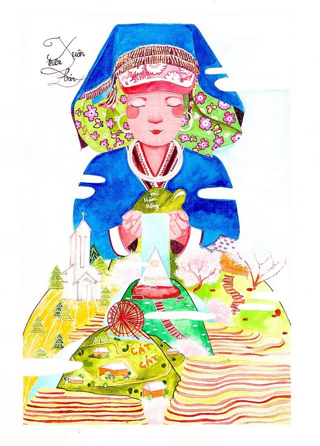 Lại có thêm bộ ảnh vẽ Việt Nam đẹp đến mê mệt - Ảnh 5.