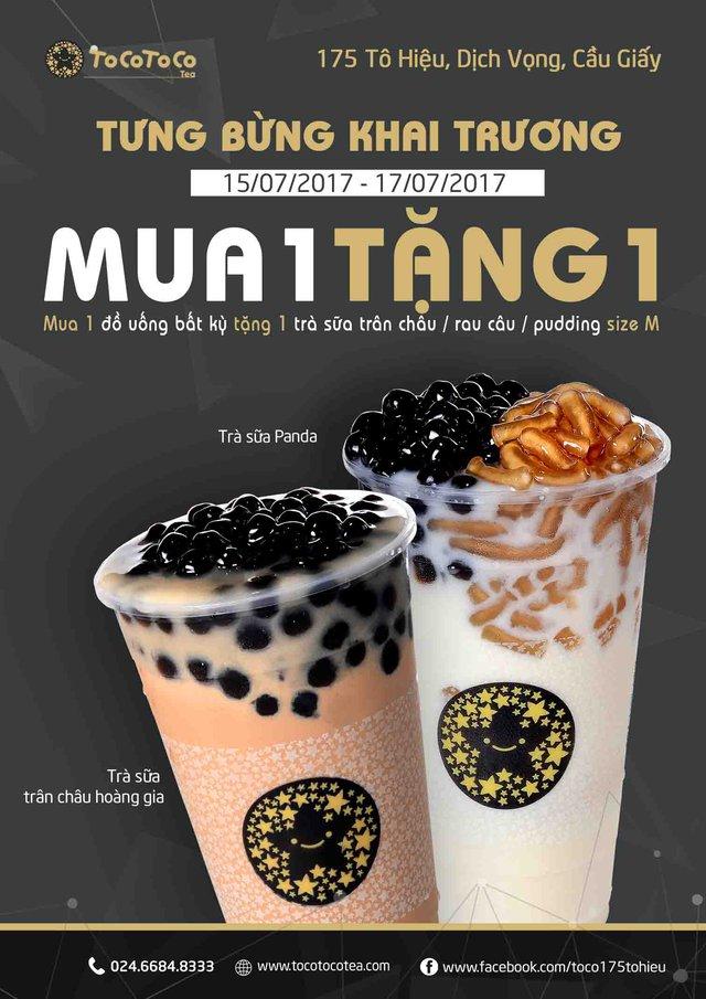 Đã mắt, ngon miệng với TocoToco – Thương hiệu trà sữa hot nhất 2017