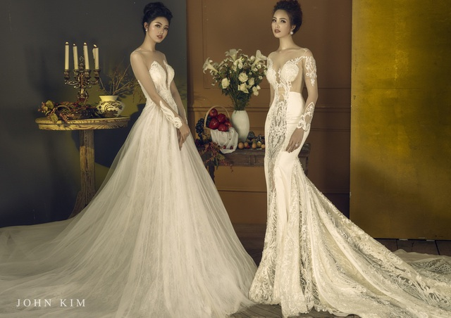 Á hậu Thanh Tú, Thụy Vân lạc vào xứ sở thần tiên với BST váy cưới cổ tích tuyệt đẹp - Ảnh 2.