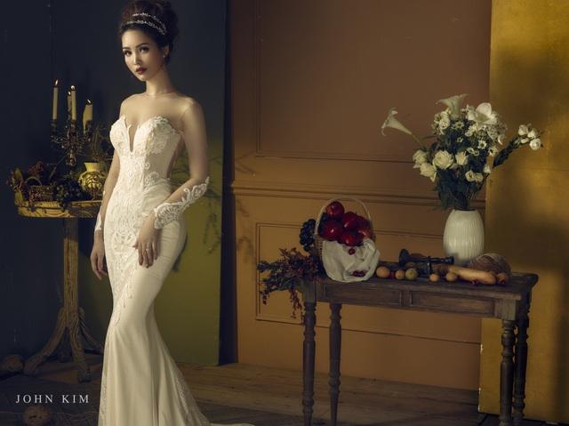 Á hậu Thanh Tú, Thụy Vân lạc vào xứ sở thần tiên với BST váy cưới cổ tích tuyệt đẹp - Ảnh 9.