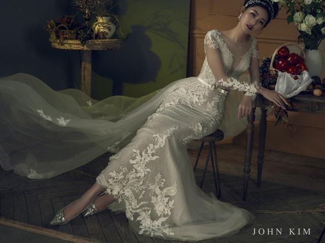 Á hậu Thanh Tú, Thụy Vân lạc vào xứ sở thần tiên với BST váy cưới cổ tích tuyệt đẹp - Ảnh 12.