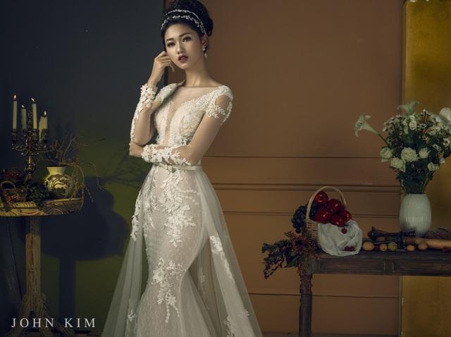 Á hậu Thanh Tú, Thụy Vân lạc vào xứ sở thần tiên với BST váy cưới cổ tích tuyệt đẹp - Ảnh 13.