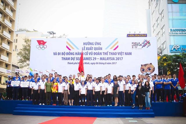 Đoàn TTVN chính thức làm Lễ xuất quân tham dự SEA Games 29 - Ảnh 1.