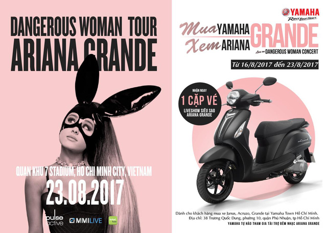 "Cơ hội nhận vé liveshow ""Dangerous Woman Tour"" của Ariana Grande tại Việt Nam - Ảnh 4."