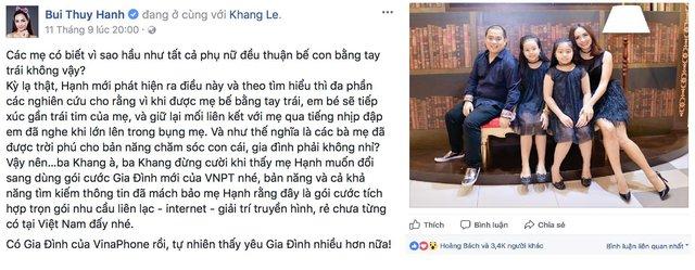 Các hot mom Việt chia sẻ khoảnh khắc hạnh phúc bên gia đình khiến fan thích thú - Ảnh 4.