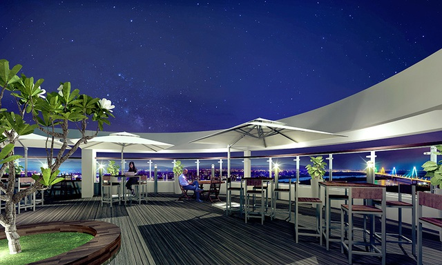 Phối cảnh rooftop Café.