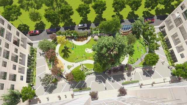 Anland còn dành 2.000m2 sân vườn đa dạng trò chơi vận động và phát triển trí tuệ.